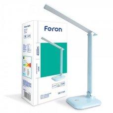 Настольная лампа LED 9W 6400K Feron DE1725 голубой