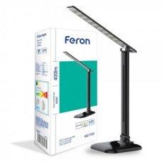 Настольная лампа LED 9W 4000K Feron DE1725 черный