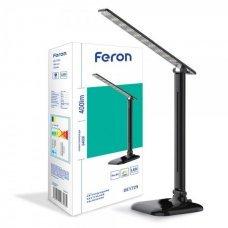 Настольная лампа LED 9W 6400K Feron DE1725 черный
