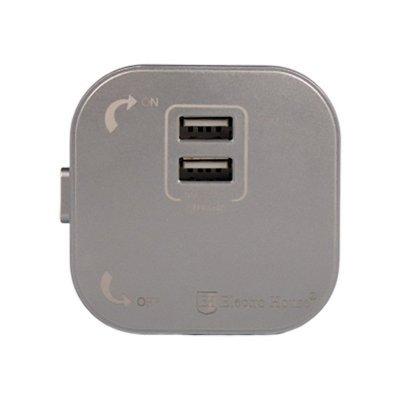 Розетка трековая двойная USB  Pandora (Серый) 2,4 А