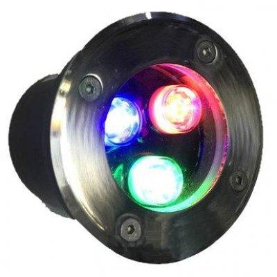 Вкапываемый грунтовый светильник RGB 3W LM12 Lemanso