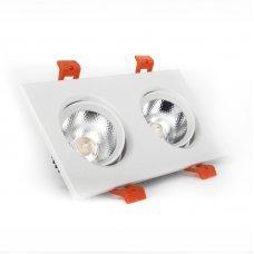 Светильник поворотный 2х5 Вт 4100к EH-CLM-03