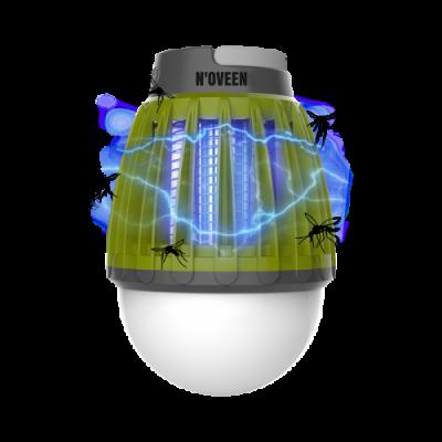Аккумуляторная светодиодная лампа от комаров для туризма и рыбалки Noveen IKN824 LED IPХ4
