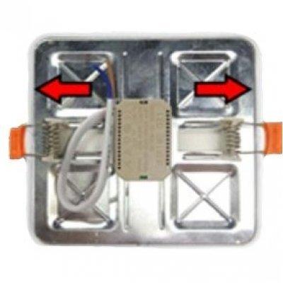 Светильник потолочный квадратный встраиваемый 24W 5000к Ø230 BIOM