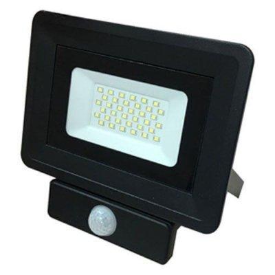 Светодиодный прожектор с датчиком движения 30w 6200К IP65