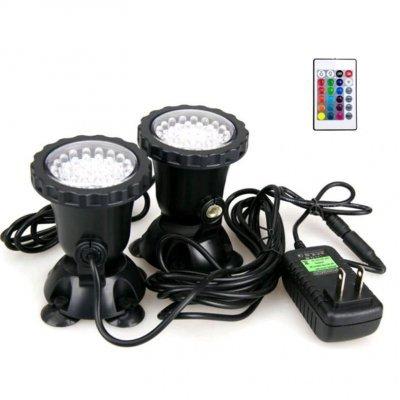 Подсветка пруда и аквариума RGB 2х36 LED с пультом