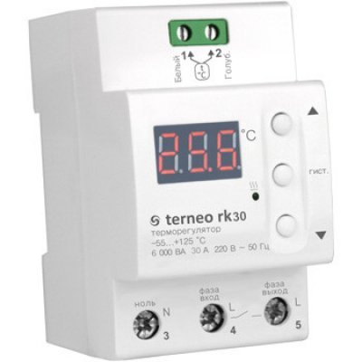 Термореле для электрического котла и сушильного шкафа на DIN-рейку terneo rk